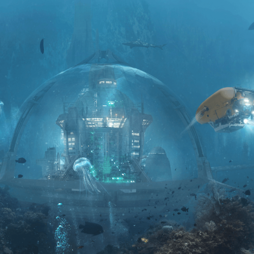 An underwater city